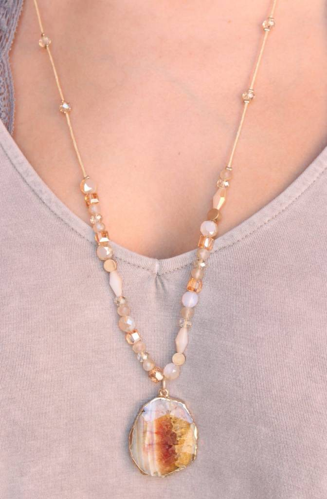 Warf Cord Beaded Necklace