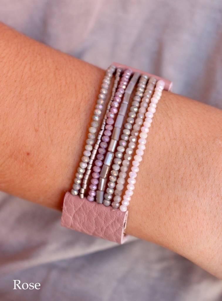 Gelby Leather Beaded Bracelet