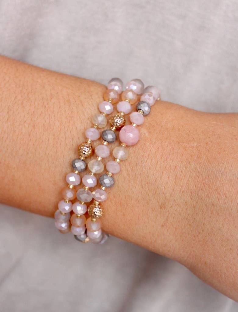 Three Strand Beaded Bracelet Set