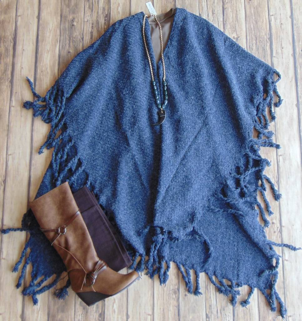 Pierce Knit Poncho
