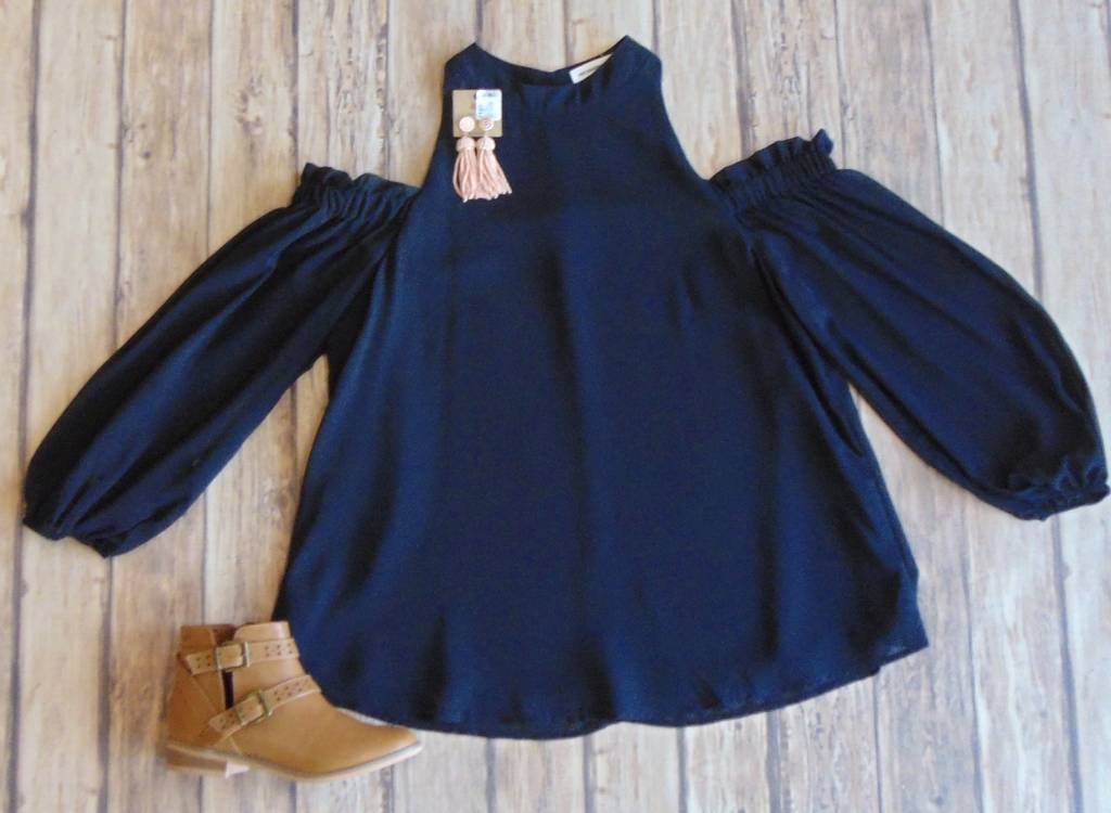 Cold Shoulders Warm Heart Top