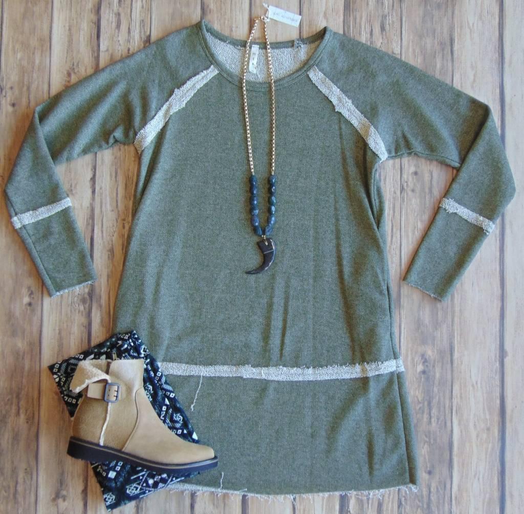 Inside Out Reverse Seam Dress
