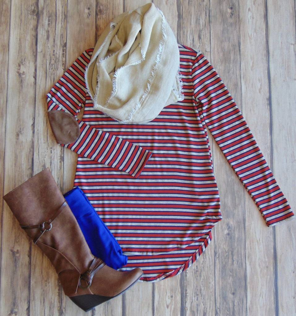 Oh By Gosh Elbow Patch Top