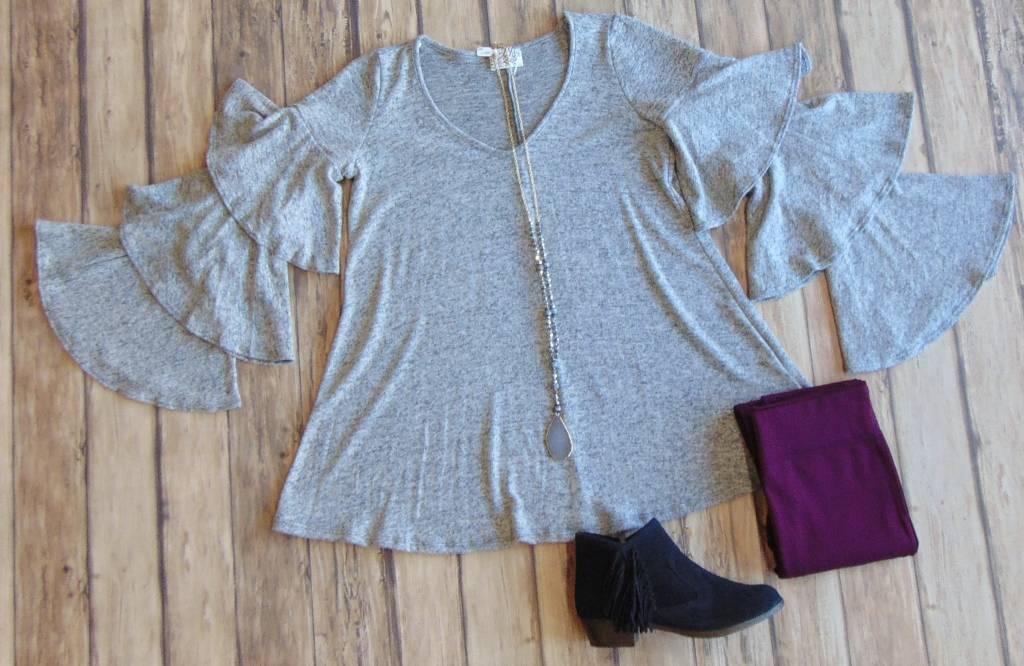 Silver Bells Sleeve Sweater