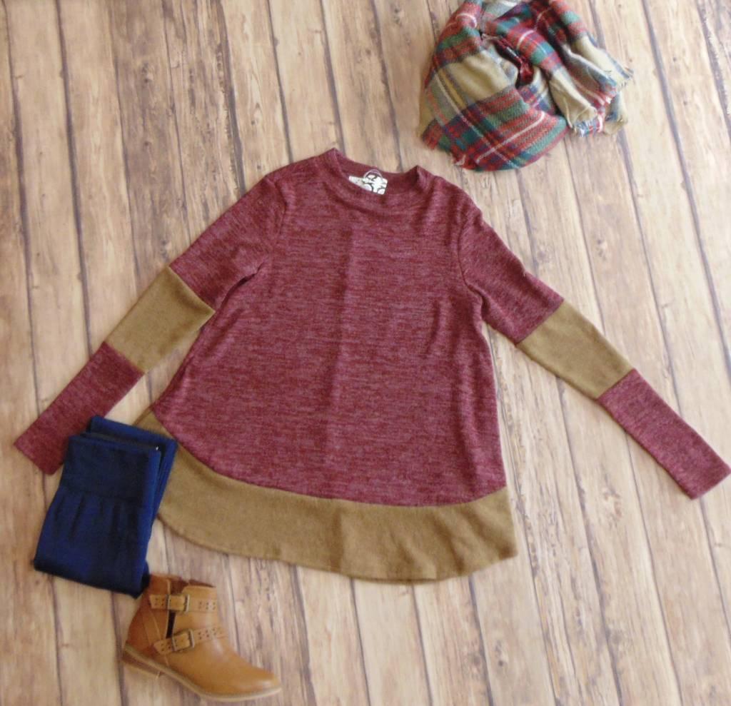Hem & Elbow Knit Top