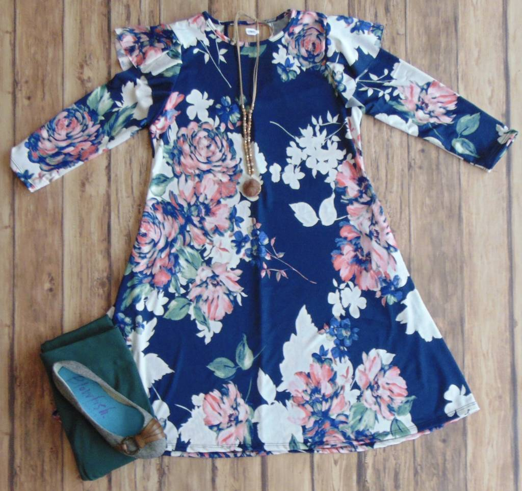 Ruffle My Floral Dress