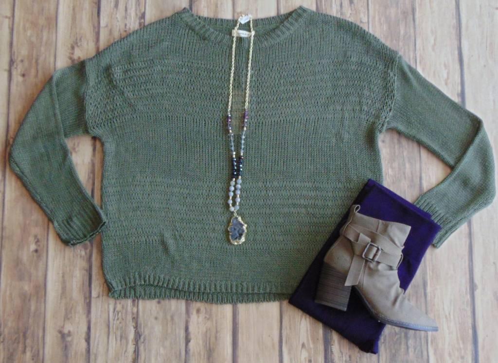 Sweet Spring Green Sweater