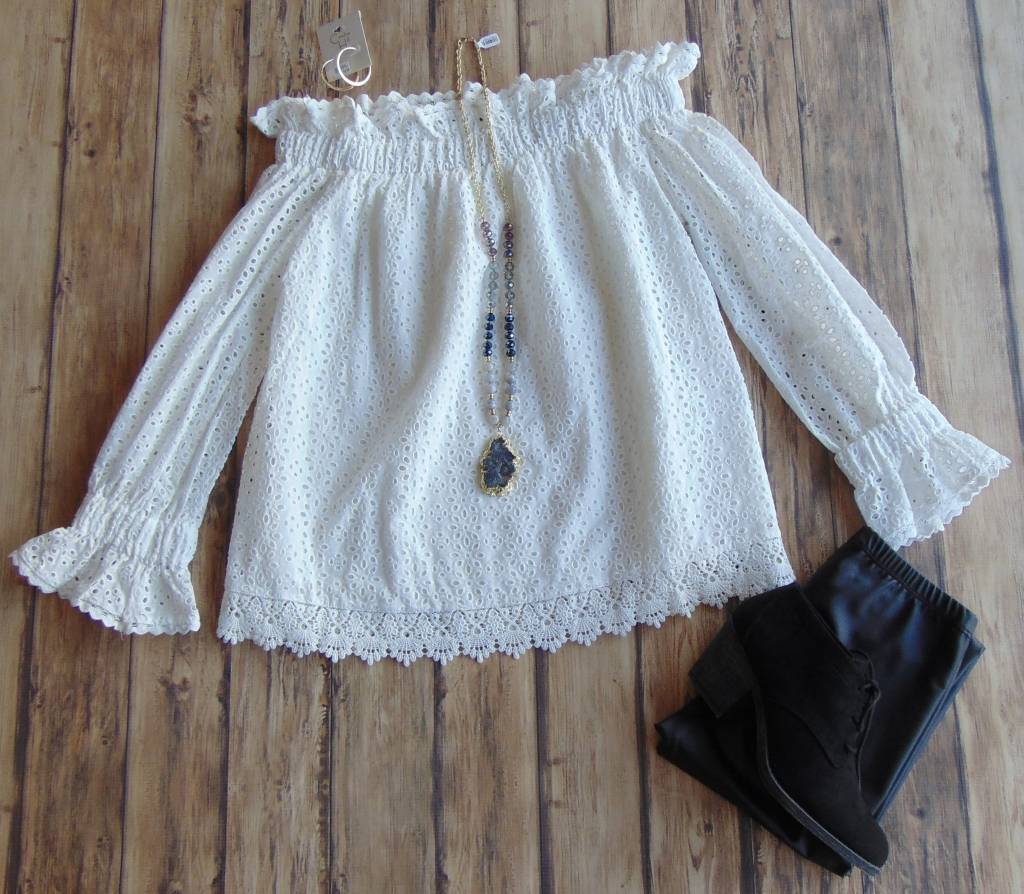 Happy Ever After Eyelet Top
