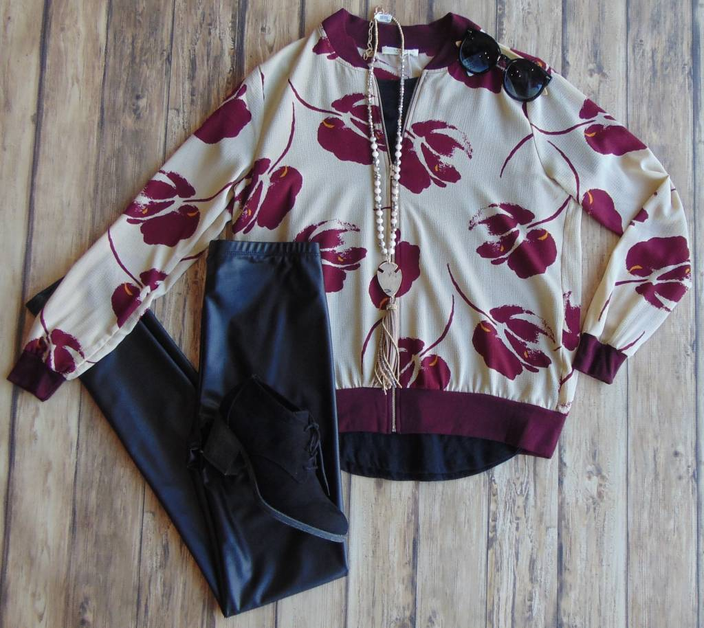 Open Your Heart Floral Jacket
