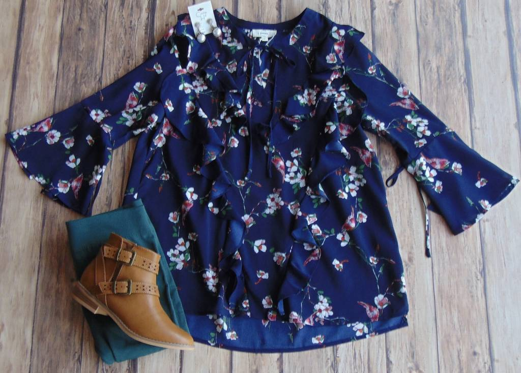 Falling To Pieces Floral Top