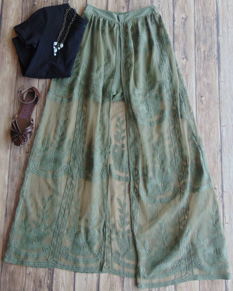 This Much Is True Open Maxi Skirt