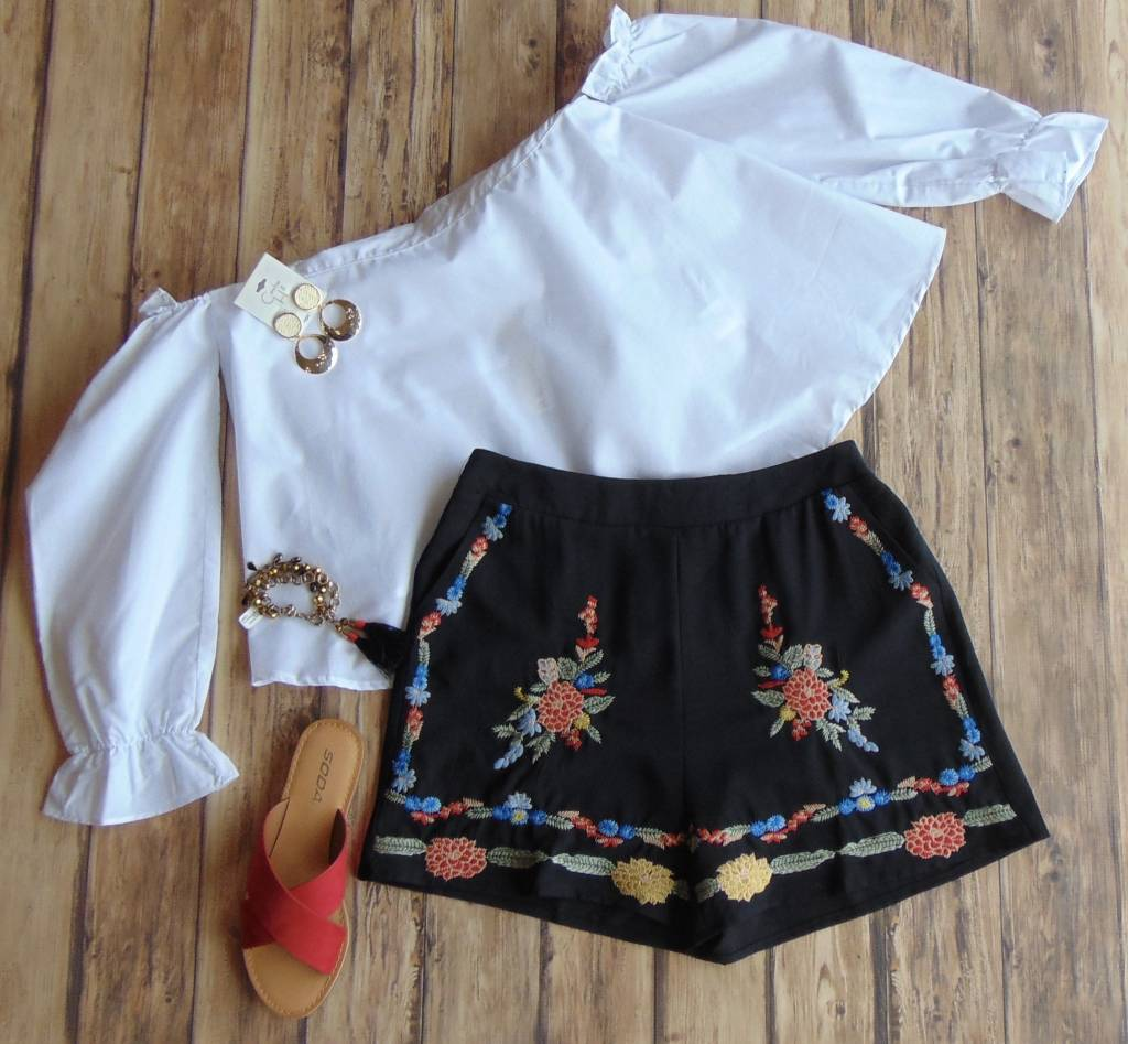Edgy in Embroidery Shorts