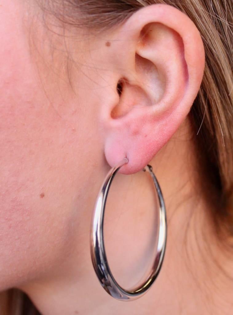 Clasp Back Hoop Earrings