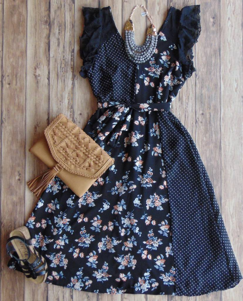 Split Personality Midi Dress