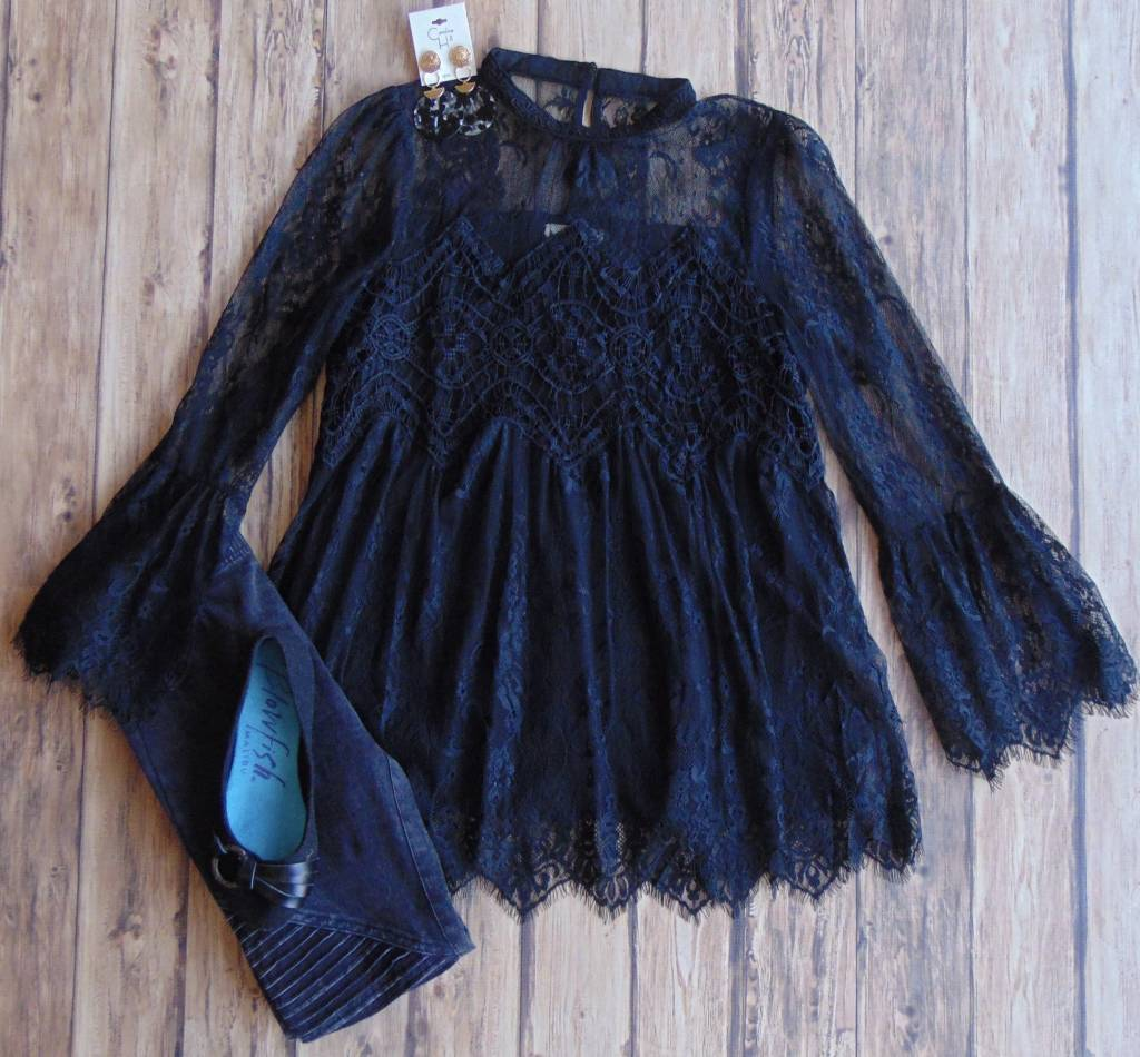 Where You'll Find Me Lace Top