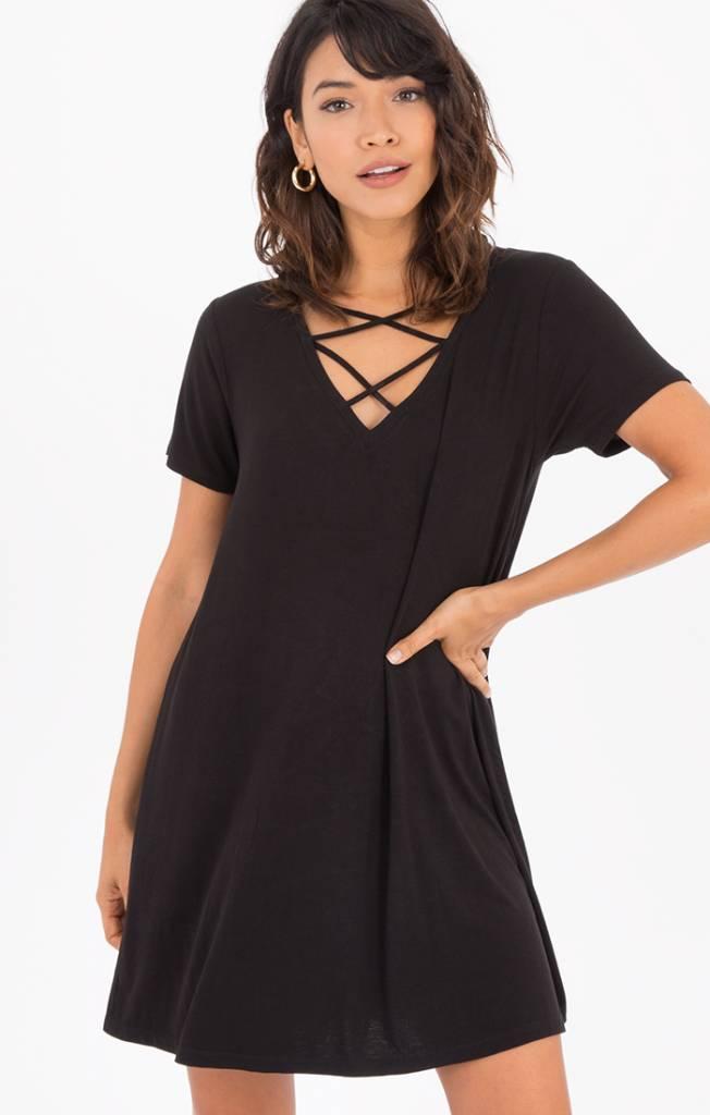 Z Supply Cross Front Tee Dress