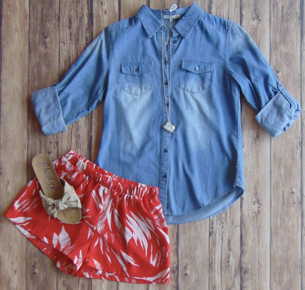 In Love With Denim Top
