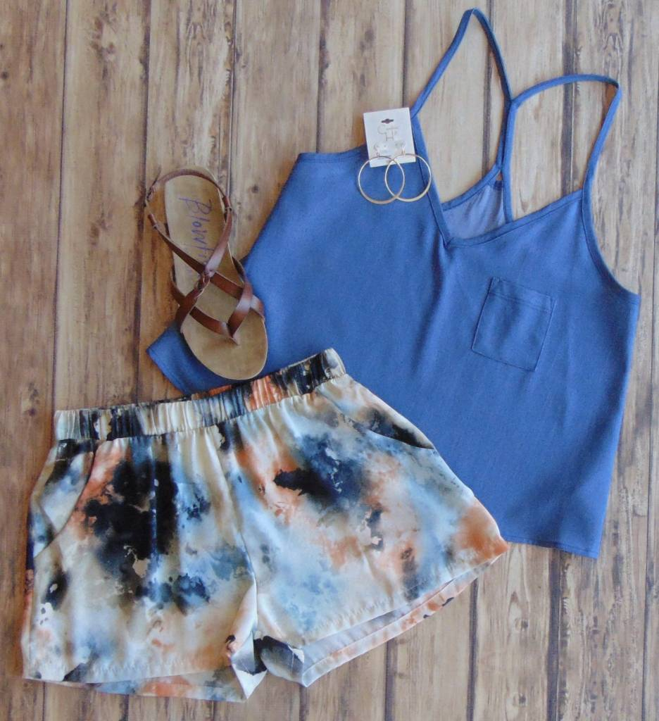 Water Color Print Shorts