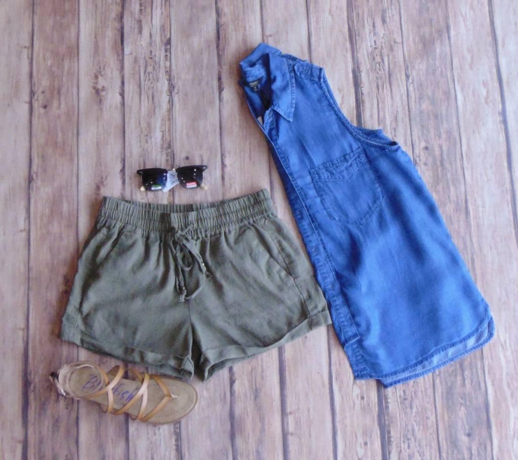 Linen Style Shorts