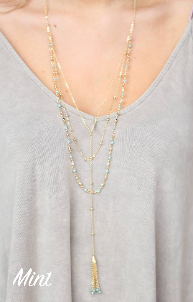 Gaffney Multi Layer Y Necklace