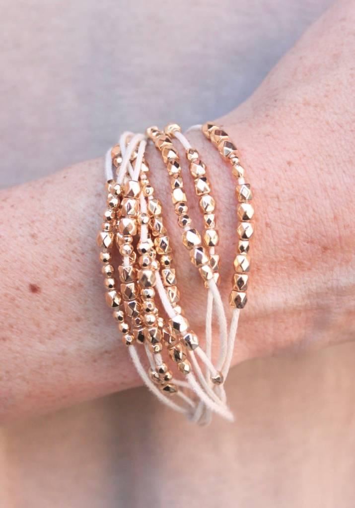 Chandler Bead and Thread Magnet Bracelet