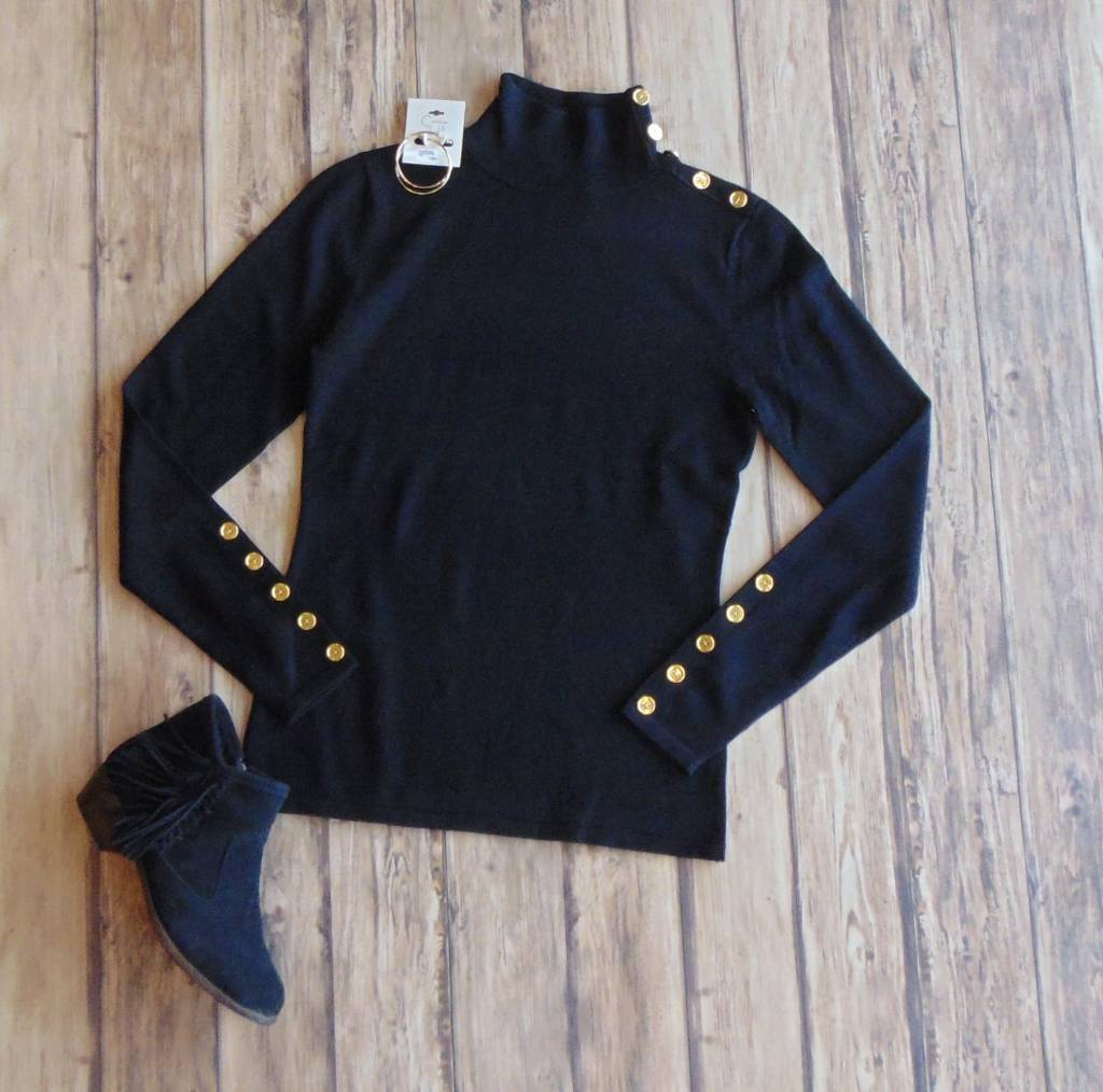 Royal Treatment Mock Neck Sweater
