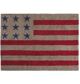 Lorena Canals Rug- USA Flag Linen- Red
