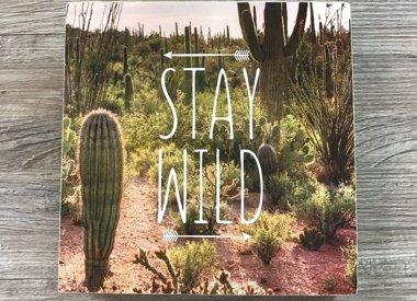 Box Sign- Stay Wild