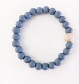 BT Teething Bracelet- Gray + Wood