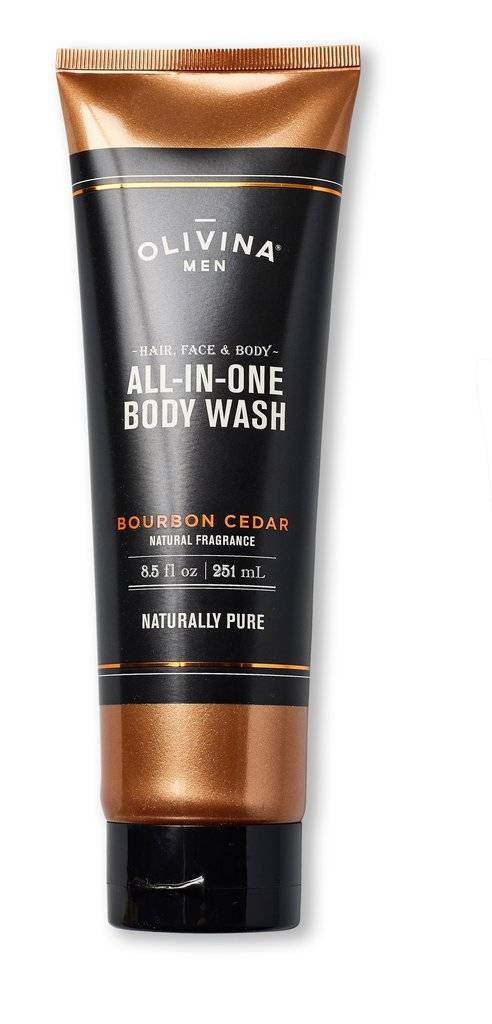 Olivina All-In-One Body Wash - Bourbon Cedar - 8.5 fl oz