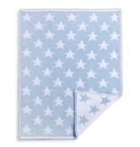 Blue Chenille Knit Star Blanket