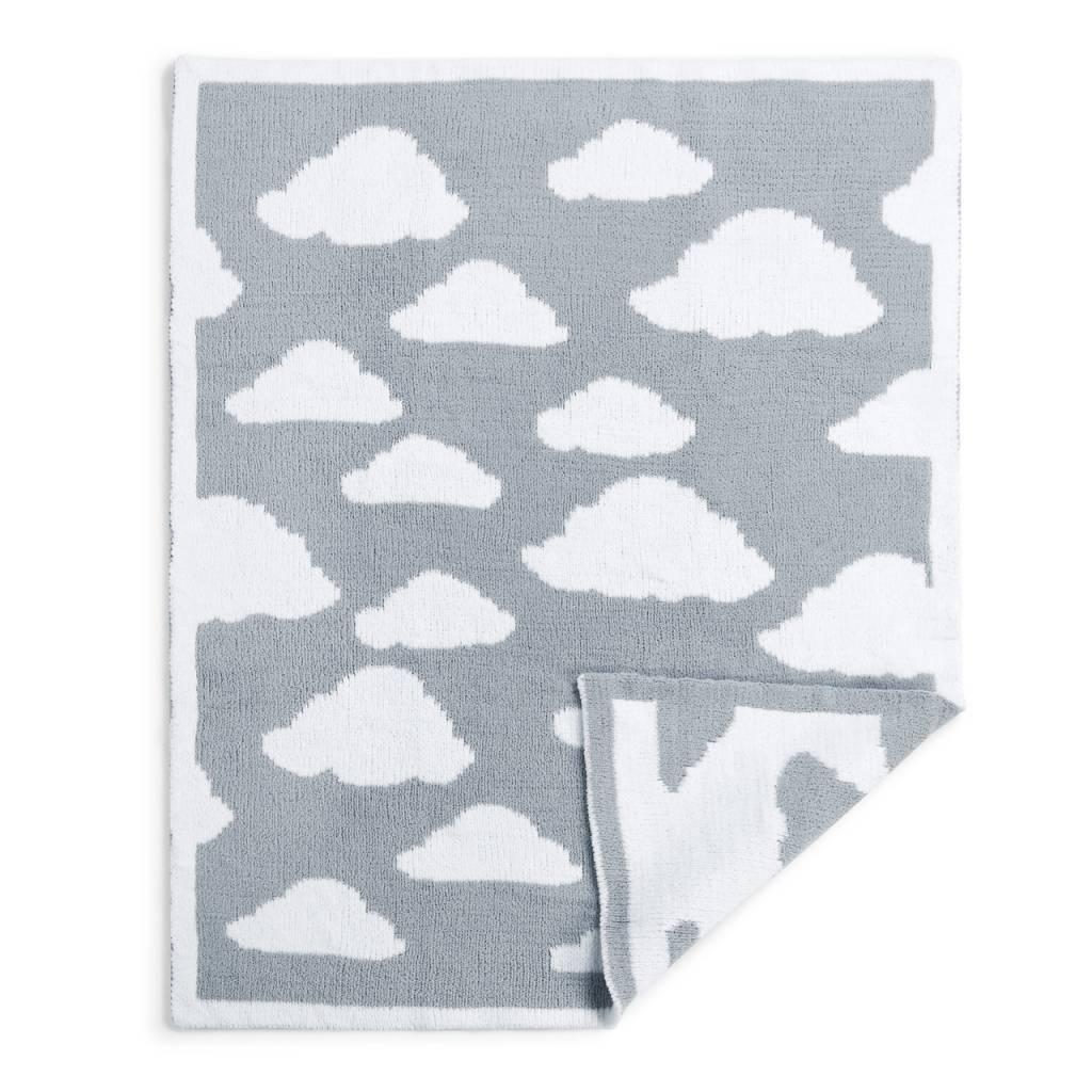 Gray Chenille Knit Cloud Blanket