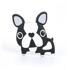 LLL Boston Terrier Teether- Black