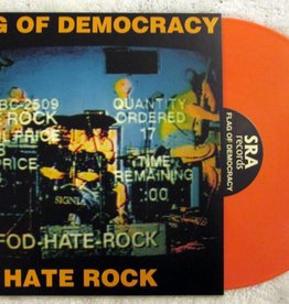 Flag Of Democracy - Hate Rock [LP] (Orange Vinyl, download, limited to 800, indie-retail exclusive)