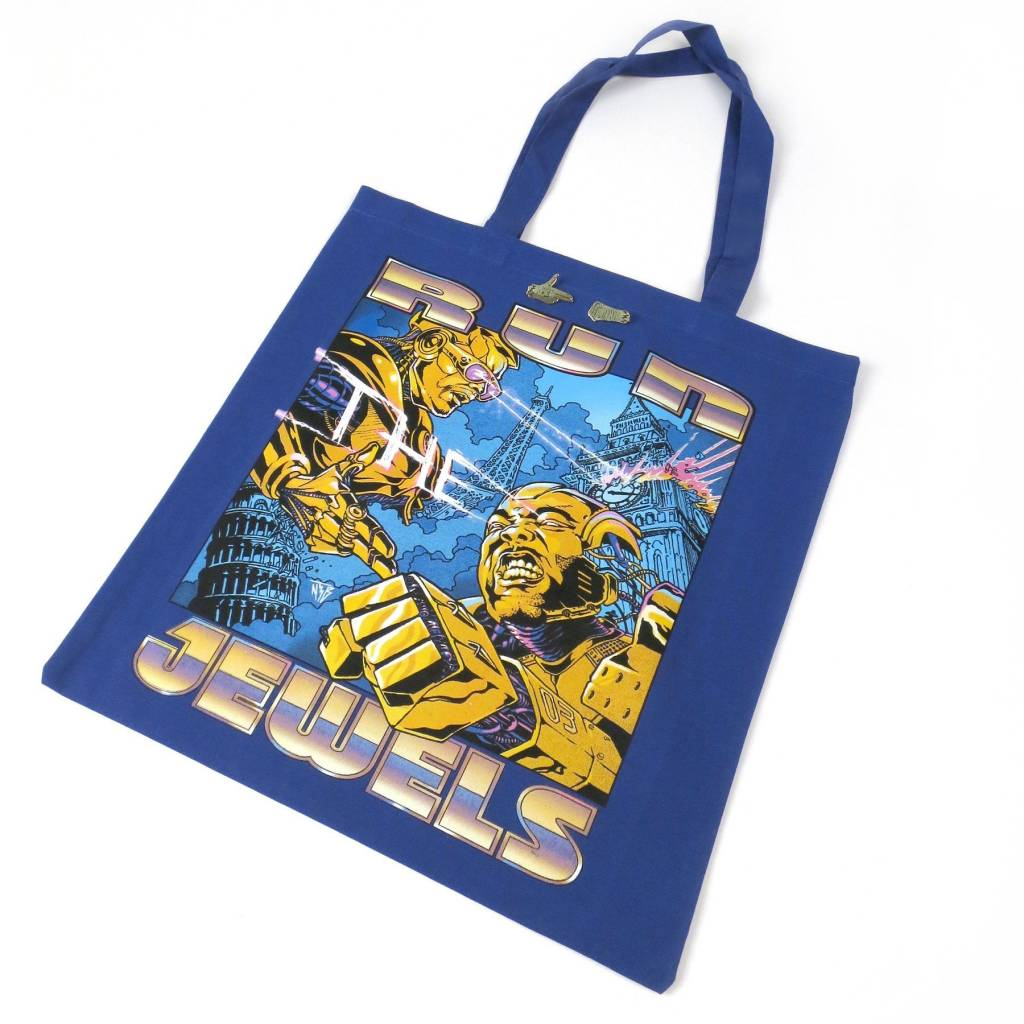 RSD17 Run The Jewels - RTJ RSD Record Tote Bag (recycled cotton canvas, gold pin set of 2 pins, limited, indie-retail exclusive)