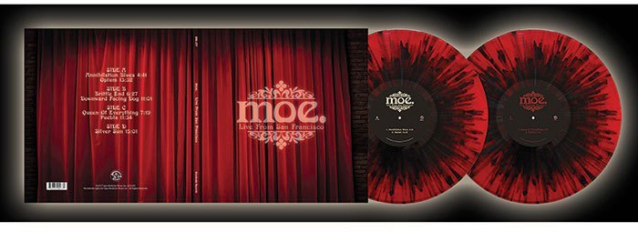 RSD17 Moe. - Live From San Francisco [2LP] (150 Gram Translucent Red with Black Splatter Vinyl, gatefold, download, gold foil stamping, color photo booklet, limited to 1500, indie-retail exclusive)