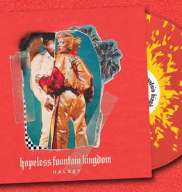 "Halsey - Hopeless Fountain Kingdom (Red Vinyl w/ Yellow Splatter Limited to 2500, Promo 2 track 7"" included)"