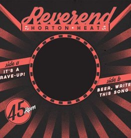 Reverend Horton Heat - It's A Rave-Up b/w Beer, Write This Song [7''] (Red Vinyl with 150 random Clear Pink copies, brand new songs, limited to 1850, indie-exclusive)