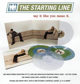 Starting Line - Say It Like You Mean It (2LP) (180 Gram BLUE/GREEN vinyl, etched side, gatefold, limited to 1500)