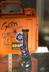 Germ Germ Water Pipe w/ Pelican Case - Heisenberg Green & Blue Dream