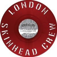 Booze & Glory - London Skinhead Crew [12''] (180 Gram, STENCIL-Diecut/Shaped Red Colored Vinyl, Reverse Groove Playing, limited to 500, indie-advance-exclusive)
