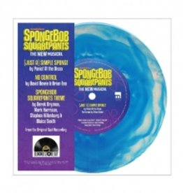 Original Cast Of Spongebob Squarepants, The New Musical - (Just A) Simple Sponge / No Control [7''] (Translucent Marbled Blue Vinyl, flower around middle, limited to 2500, indie-retail exclusive)