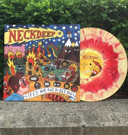 Neck Deep - Life's Not Out To Get You (Red/Yellow Swirl w/ White Splatter Vinyl)
