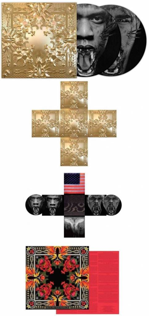 Jay Z & Kanye West - Watch The Throne (Deluxe 2LP) (Picture Disc Vinyl, gold-embossed cross-shaped jacket, poster)