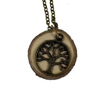 Aromatherapy Necklace- Tree of Life