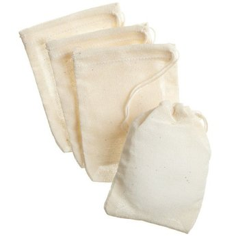 "Small Muslin bags (4"" x 6"")"