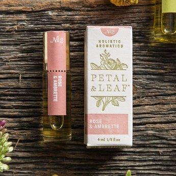 Petal & Leaf Holistic Aromatics Rose & Ambrette Perfume