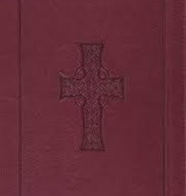 Crossway ESV Large Print Thinline Reference Bible, Burgundy, Celtic Cross Design 2818
