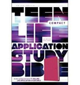 Tyndale NLT Teen Life Application Study Bible, compact edition, pink 7543
