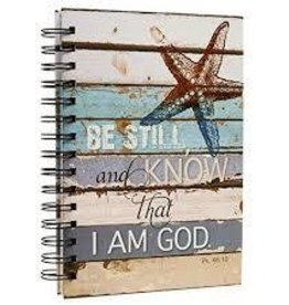 Christain Arts Gifts Wirebound Journal -  Lighthouse Collection Starfish, Be Still - Psalm 46:10